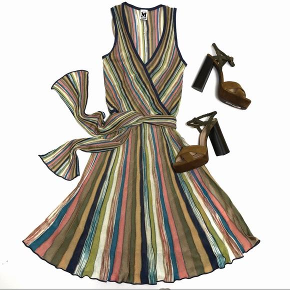 3256771f694 M by Missoni Dresses   Skirts - M Missoni Multicolor Stripe Italian Knit  Dress